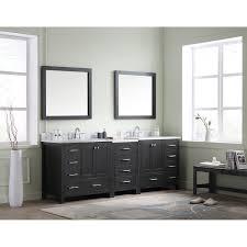 90 Bathroom Vanity Virtu Caroline 90 Double Bathroom Vanity Cabinet Set With Mirror
