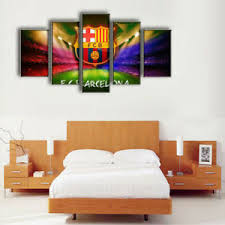 image is loading fc barcelona canvas wall print framed art home  on framed canvas wall prints with fc barcelona canvas wall print framed art home football decor
