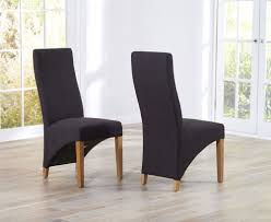 Fabric Dining Room Chairs Uk Marco Oak Amp Charcoal Fabric Dining Chairs Oak Furniture Solutions