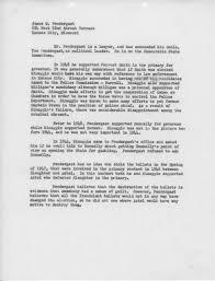 Memorandum Re James M Pendergast The Pendergast Years