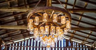 brilliant wagon wheel chandelier made with mason jars regard to jar for idea 5