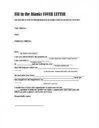 Blank Cover Letter Blank Cover Letter Template Fill In The Blank Cover Letter Fill In