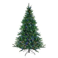 Dual Led Light Christmas Tree 6 5 Pre Lit Instant Connect Noble Fir Artificial Christmas Tree Dual Led Lights