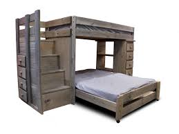 full bunk beds with stairs. Beautiful Full Pine Crafter WalnutStaircase TwinFull Loft Bed For Full Bunk Beds With Stairs E