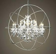 chrome orb chandelier globe large ideas chandeliers image