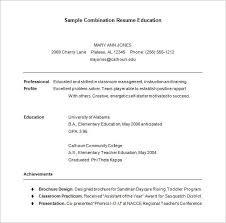 Combination Resume Template 6 Free Samples Examples Format With