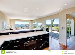 Open Plan Living Kitchen Living Room Open Plan Kitchen With Living Room In Modern House Stock Photo