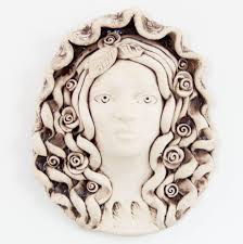 wall decor woman wall sculpture white wall hanging ceramic wall mask fine on 3d wall art woman with wall decor woman wall sculpture white wall hanging ceramic wall