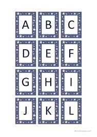 Alphabet Flashcards Capital Letters English Esl Worksheets