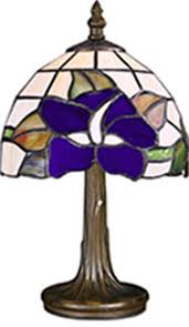 tiffany style unique stained glass desk table lamp light 17cm wide