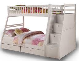 Bella Esprit Jason Twin over Full Bunk Storage Bed in White