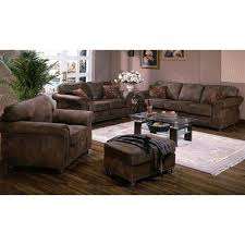 elk river leather look microfiber sofa love ottoman chair by porter designs