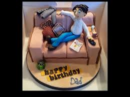 Birthday Cakes Sofa Cake For My Dad With All His Favourite Things