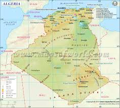 algeria map  map of algeria