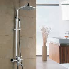 how to add rainfall effect to your bathroom rain shower head with handheld sprayer