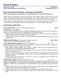 Web Product Manager Sample Resume Simple DRozell Resume