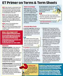 Acceptance Now Payment Chart How To Decode A Term Sheet Right The Economic Times
