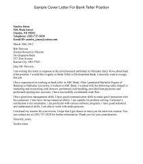 Teller Cover Letter Sample Bank Teller Cover Letter Sample Resume Genius Puentesenelaire