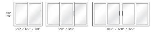 sliding door dimensions