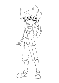 Yuki Beyblade Anime Coloring Pages For