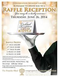Raffle Event Raffle Reception Event Congregation Shomrim Laboker