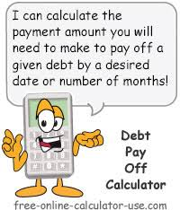 Debt Pay Off Calculator Payment Amount To Meet Time Frame Goal