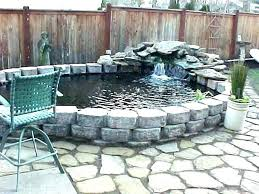 above ground pond design ideas delightful backyard feature walls raised pounders