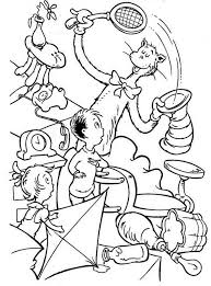 Small Picture Printable Cat in the Hat Coloring Pages Coloring Me