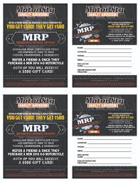 Referral Cards Motorcity H D Farmington Hills Michigan