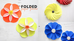 Paper Flower Folding Diy Folded Paper Flowers