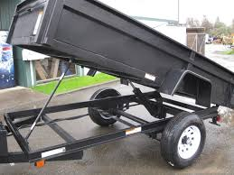 5 x 10 carry on single axle dump trailer with double doors vin 04942
