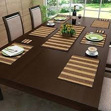 brown table mats freelance brown bamboo vinyl table mats set of 6 brown woven round placemats
