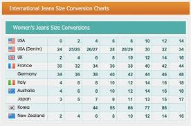 Us And Uk Jeans Size Chart 16 Prototypical Cloth Size Chart Conversion