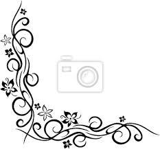 Fototapeta Ranke Květinový Ornament Mit Blumen Blüten Tattoo Style