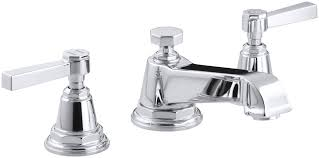 kohler k 13132 4a bv brushed bronze double handle widespread bathroom faucet with ultra glide valve technology from the pinstripe collection faucet com