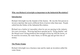 why was richard arkwright so important to the industrial  document image preview