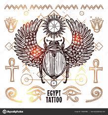 Ilustrace Okultní Tetování Egypt Stock Vektor Macrovector 132640486