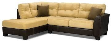 Two Tone Living Room Furniture Bella 2 Piece Left Facing Microsuede Sectional Two Tone Brown