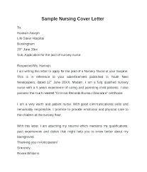 Sample Cover Letter For Nurse Cover Letter For School Nurse Position