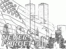 New York City Before September 11 2001 Coloring Page With 11 ...