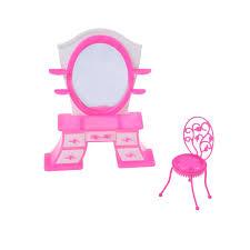 Dresser Desk Chair Dollhouse Furniture Doll Accessories For Barbie