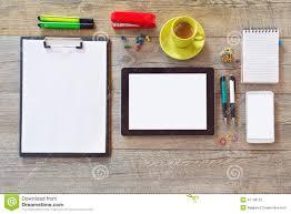 office desk mock up template tablet smart phone notebook office desk mock up template tablet smart phone notebook and cup of coffee