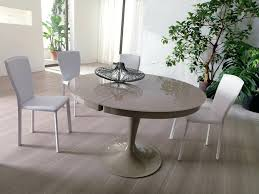 modern round extendable dining table modern round light grey lacquered extendable dining table design in round
