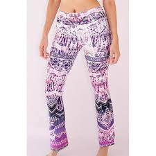 Patterned Yoga Pants Custom Appleletics Women's Unique MultiPatterned Flare Yoga Pants Small