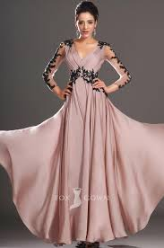 Dusty Pink Prom Dress Black Lace Prom Dress Long Sleeve Prom Christmas Party Dresses Long Sleeve