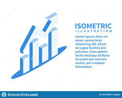 Growth Chart Design Growth Chart Financial Chart With Arrow Icon Isometric