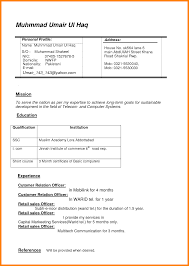 Official Resume Formats 12 Cv Official Format Theorynpractice