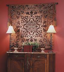 on wall art tapestry hangings with ironwork 53 x 53 tapestry traditional art home