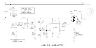 ldr pole light switch project ldr pole light switch schematic