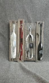 wine bottle wall art s cork diy red metal plaque